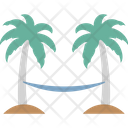 Hammock Hammock On Beach Palm Trees Hammock Icon