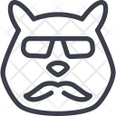 Hamster Animal Hipster Icon