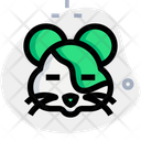 Hamster Closed Eyes Icon