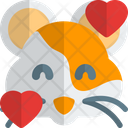 Hamster Smiling With Hearts Animal Wildlife Icon