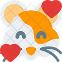 Hamster Smiling With Hearts Icon