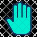 Hand Print Biometric Hand Scanner Icon