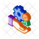 Hand Holding Gear Icon