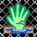 Halloween Hand Sticking Icon