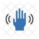 Hand Scanning Security Icon