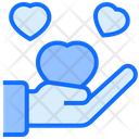 Hand Heart Loyalty Icon