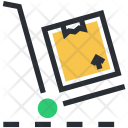 Hand Trolley Truck Icon