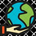 Hand Earth Icon