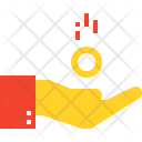 Hand Investment Cash Icon