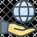 Hand Hold Globe Icon