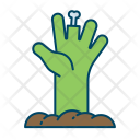 Hand Haunted Ghost Icon