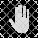 Hand Palm Gesture Icon