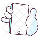 Hand Gesture Hand Activity Hand Holding Smartphone Icon
