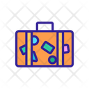 Tourist Luggage Belongings Icon
