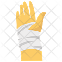 Hand Bangadge Hand Injury Injured Body Part Icon