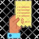 Hand Bill Hold Icon