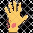 Hand Bleeding Hand Injury Injured Body Part Icon