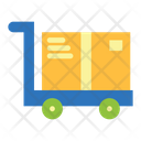 Big Box Cart Hand Cart Deliveryu Icon