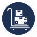 Box Cart Hand Cart Package Icon