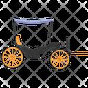 Hand Cart Vintage Transport Man Driven Icon