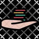 Hand Casino Chips Icon