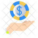 Hand Coin Coin Rupee Icon