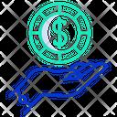 Hand Coin Icon