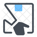 Hand Courier Delivery Icon