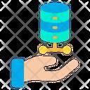 Hand Database Icon