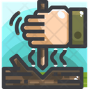Hand drill fire Icon
