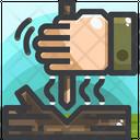 Fire Hand Drill Fire Primitive Fire Icon