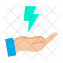Energy Hand Lightning Icon