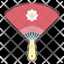 Hand Fan Uchiwa Icon