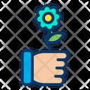 Hand Flower Icon