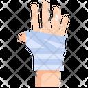 Hand Gauze Bandage Icon