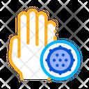Bacteria Germ Hand Icon