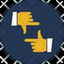 Hand Gesture Long Range Planning Planning Icon