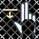 Move Down Hand Icon