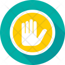 Hand Gesture Stop Icon