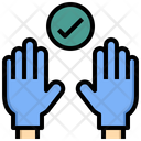Hand Glove Laboratory Icon