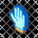 Protection Glove Isometric Icon