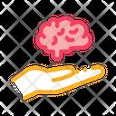Hand Hold Brain Icon