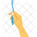 Hand Hold Brush Icon