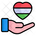 Hand Holding Heart Love Icon