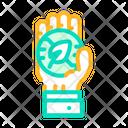Hand Holding Chia Icon