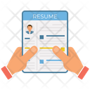 Resume Hand Holding Cv Curriculum Vitae Icon