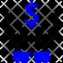 Coin Dollar Hand Icon Icon