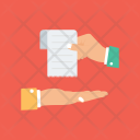 Hand holding Paper Icon
