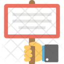 Hand Holding Placard Icon