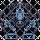 Hand Holding Shield Lock Icon